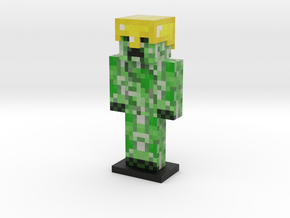 Creeper skin - Gold Helmet in Full Color Sandstone