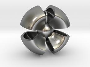Ribbon pendant in Natural Silver