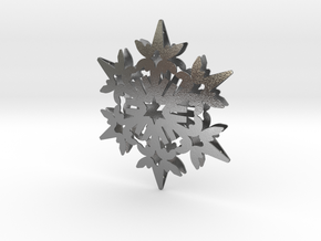 Wings Snowflake - 3D in Natural Silver