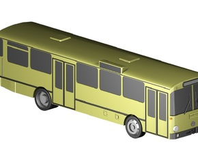 Stadtbus / City bus (1:220) in Smooth Fine Detail Plastic