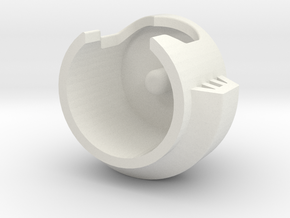 ARMS HELMET in White Natural Versatile Plastic