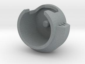 ARMS HELMET in Polished Metallic Plastic
