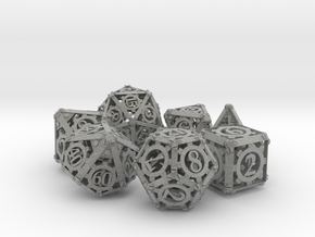 Steampunk Dice Set in Metallic Plastic