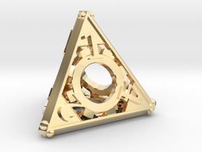 Steampunk d4 in 14K Yellow Gold