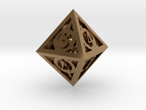 Deathly Hallows d8 in Natural Brass