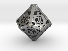 Steampunk Percentile in Natural Silver