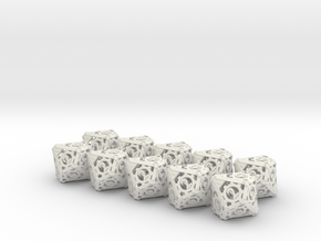 Steampunk 10d10 Set in White Natural Versatile Plastic