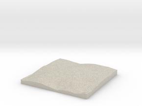 Model of Carrboro in Natural Sandstone