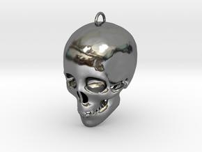 Skullhollow Pendant in Fine Detail Polished Silver