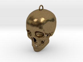 Skullhollow Pendant in Natural Bronze