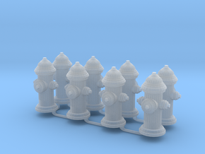 G Scale Fire Hydrants x8 in Smooth Fine Detail Plastic