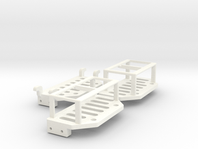 3x Link Hub and Battery Tray for Micro Coaster  in White Strong & Flexible Polished