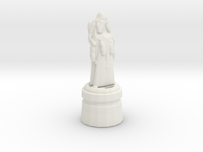 Monk Pawn in White Natural Versatile Plastic