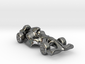 F1Car in Fine Detail Polished Silver