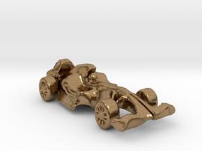 F1Car in Natural Brass