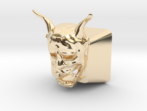 Cherry MX Hannya Keycap (with cutouts for LEDs) in 14K Yellow Gold