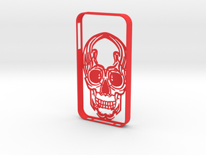 IPhone4s Case Scull in Red Strong & Flexible Polished