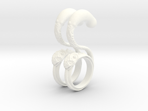 Dragon Loop Hanging Design (select a size) in White Processed Versatile Plastic