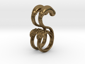 Dragon Loop Hanging Design (select a size) in Natural Bronze