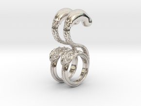 Dragon Loop Hanging Design (select a size) in Platinum