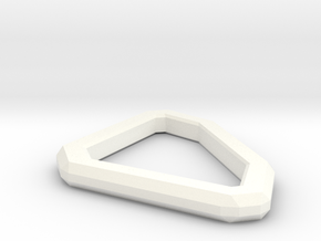 Star Lord Belt D-Ring in White Processed Versatile Plastic
