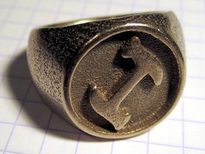 Stonecutter Ring in Polished Bronzed Silver Steel: 8 / 56.75