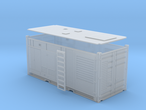 Generator AC 1MW in einem 20 ft Container in Smooth Fine Detail Plastic: 1:87 - HO