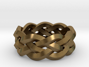 Four-strand Braid Ring in Natural Bronze