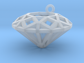 Diamond Charm  in Smooth Fine Detail Plastic