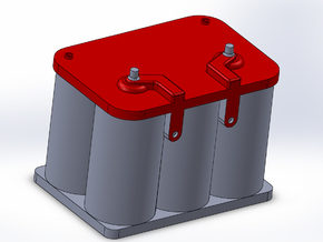 Optima Style 1:10 Scale Battery  **2 Each** in Red Processed Versatile Plastic