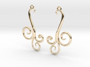 Wind Curls Earrings in 14K Yellow Gold