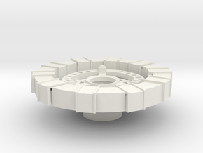 Wearable Arc Reactor in White Natural Versatile Plastic