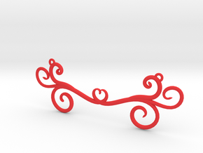 Wind Curls Heart Pendant in Red Processed Versatile Plastic