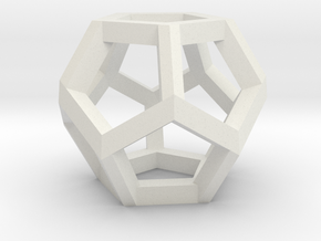 Dodecahedron Small in White Strong & Flexible
