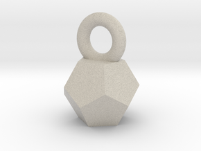 Solid Dodecahedron charm Small in Sandstone