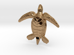 Sea Turtle in Polished Brass