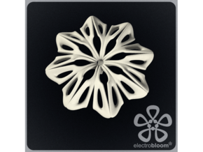 Anna flower charm. in White Natural Versatile Plastic