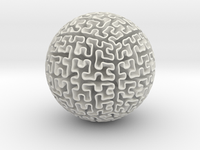 Hilbert Sphere in White Strong & Flexible