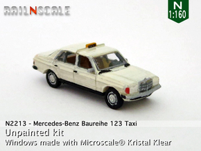Mercedes-Benz W123 Taxi (N 1:160) in Smooth Fine Detail Plastic