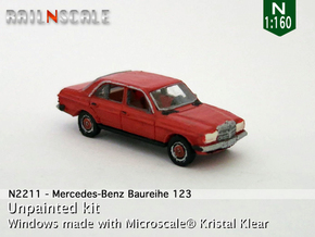 Mercedes-Benz W123 (N 1:160) in Smooth Fine Detail Plastic