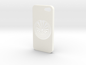 Man In The Maze iPhone 5s Case in White Processed Versatile Plastic