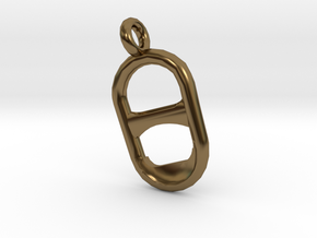 Tab Pendant in Polished Bronze