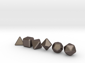 Blank Gaming Dice with Bevels in Polished Bronzed Silver Steel