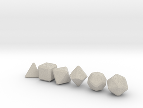 Blank Gaming Dice with Bevels in Natural Sandstone