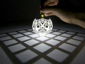 Grid (stereographic projection) in White Natural Versatile Plastic