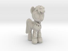 Pony SciFi Armor in Natural Sandstone