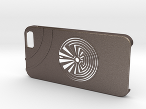 Man In The Maze iPhone 6 Case in Polished Bronzed Silver Steel