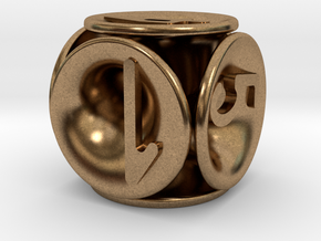 tubes&numbers dice in Natural Brass