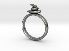 Balance Ring size 8 in Fine Detail Polished Silver