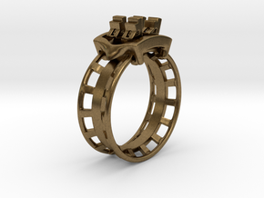 Rollercoaster Ring in Natural Bronze